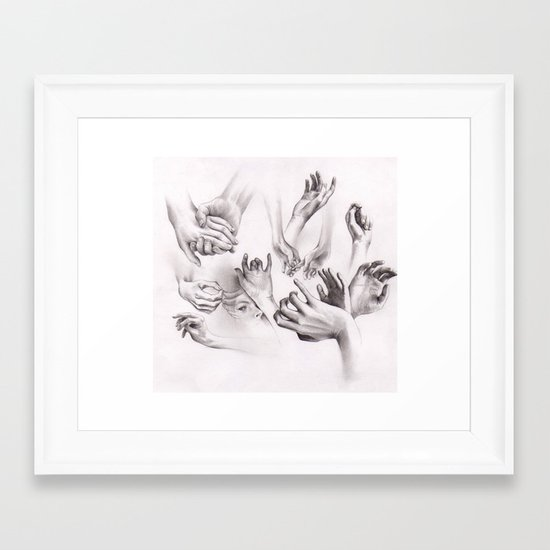 Need a Hand? Framed Art Print