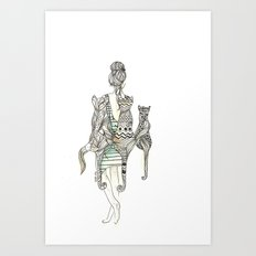 animalia cat Art Print
