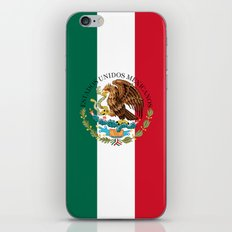 Mexican flag (augmented scale) with Coat of Arms (overlaid) iPhone & iPod Skin