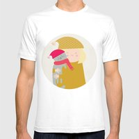 Cat Lady Mens Fitted Tee White SMALL