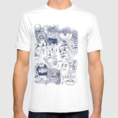 Dragon's Breath Mens Fitted Tee SMALL White