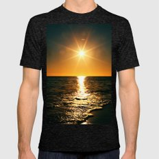 Tropical Sun Mens Fitted Tee Tri-Black SMALL