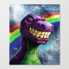 Barney the dinosaur Canvas Print