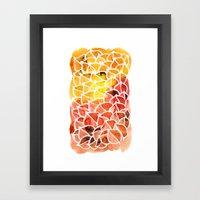 Leaves / Nr. 8 Framed Art Print