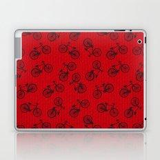 Red Bicycle Pattern Laptop & iPad Skin