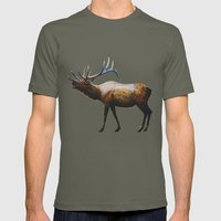 The Rocky Mountain Elk Mens Fitted Tee Lieutenant SMALL