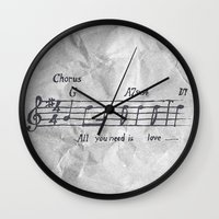 All You Need Is Love! Wall Clock