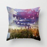 Surfing On Acid Throw Pillow