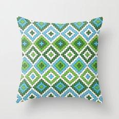 Macrame Green Throw Pillow