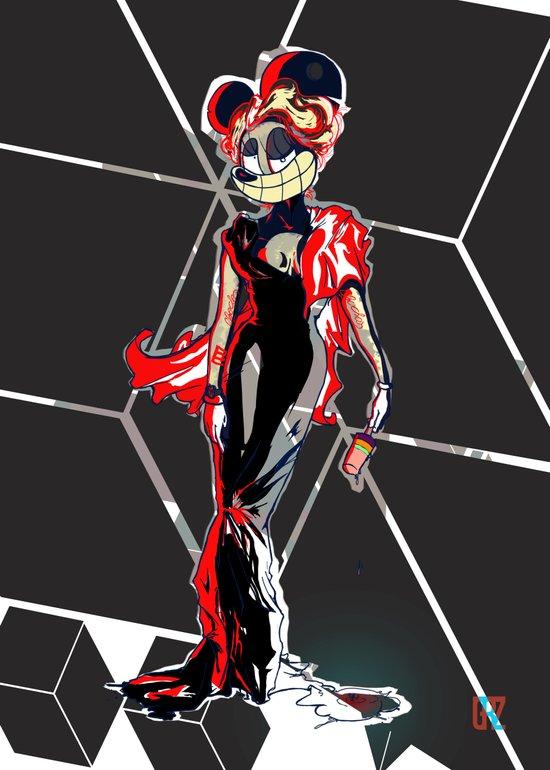 LocaCrazy Glamour mode (variant) Art Print