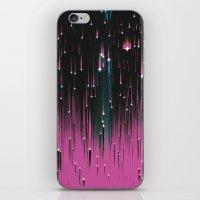 Pink Meteors iPhone & iPod Skin