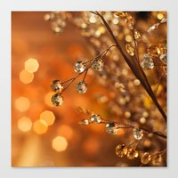 Sparkles in Gold Canvas Print