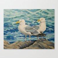 Gull Pair Canvas Print