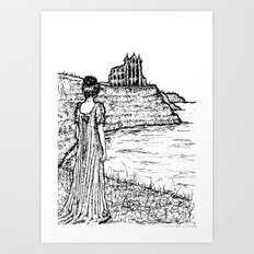 Cliffs of Whitby Art Print
