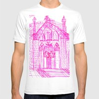 Building Sketch Mens Fitted Tee White SMALL