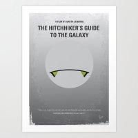 No035 My Hitchhiker Guid… Art Print