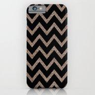 Black And Gold Glitter C… iPhone 6 Slim Case