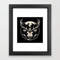 Deer Home Framed Art Print