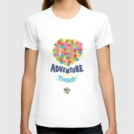 Adventure Is Out There Womens Fitted Tee White SMALL