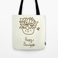 Happy Succulent Tote Bag