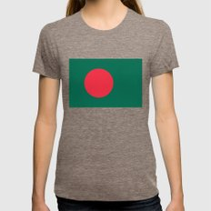 Flag of Bangladesh, High quality authentic HD version Womens Fitted Tee Tri-Coffee SMALL