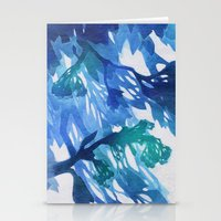 Morning Blossoms 2 - Blu… Stationery Cards