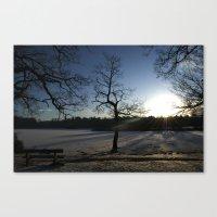 Snowy Sunset Canvas Print