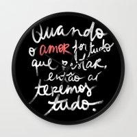 O Amor é Tudo Wall Clock