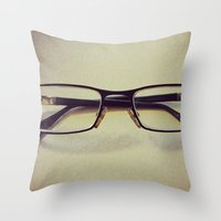 Throw Pillow featuring Glasses by MattXM85