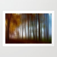 Abstract Autumn Forest Art Print
