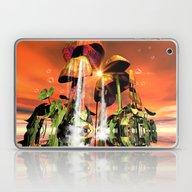 Mushrooms In The Sea Laptop & iPad Skin