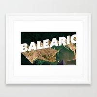 Balearic Beat Framed Art Print