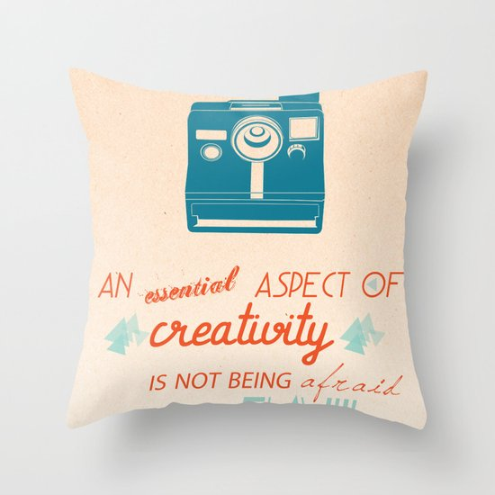 Creativity Inspirational Quote Throw Pillow