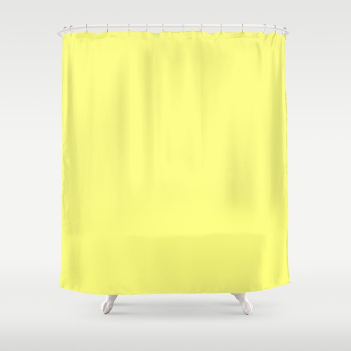Yellow shower curtain by beautiful homes society6