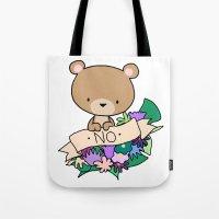 Brown Bear, NO! Tote Bag