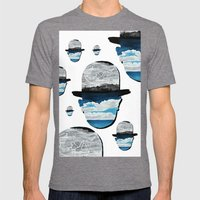 Ceci n'est pas une Magritte Mens Fitted Tee Tri-Grey SMALL