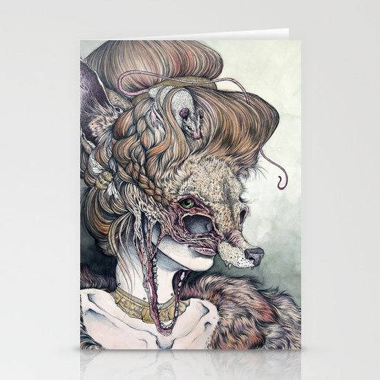 Vulpes Masquerade, now as a print! Stationery Card