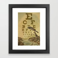 eye chart I Framed Art Print
