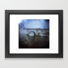 Paris Bridge & Seine Holga Double Exposure Framed Art Print