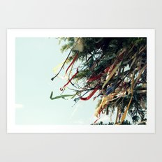 Ribbon Wishes Art Print