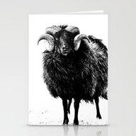 Black Ram Stationery Cards