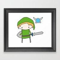 Link - The Legend Of Zel… Framed Art Print