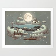 Art Print featuring Ocean Meets Sky by Terry Fan