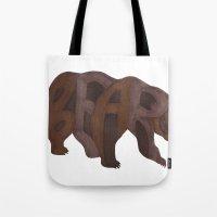 Bears Typography Tote Bag