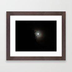 Autumn Moon Silhouette Framed Art Print