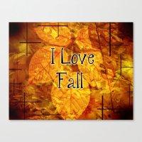 Autumn Memories In Orange I Love Fall.jpg Canvas Print