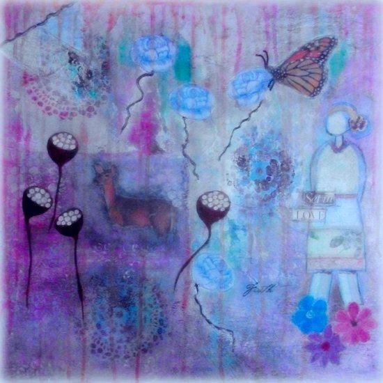 She is set in love Art Print