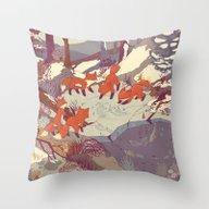 Fisher Fox Throw Pillow