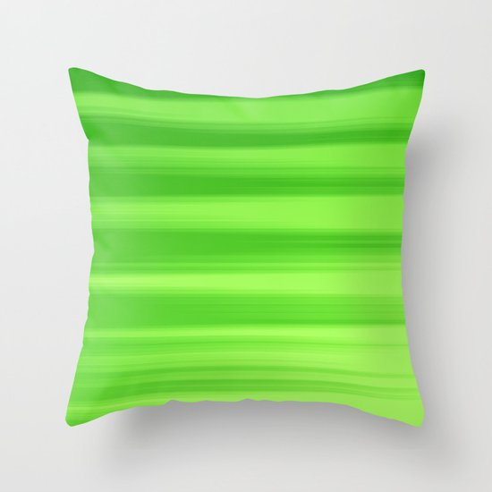 Green Goddess. Throw Pillow