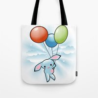 Cute Little Blue Bunny F… Tote Bag